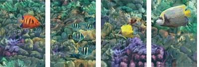 Hawaiian Fish Digital Art - Reef Scene by Stephen Jorgensen