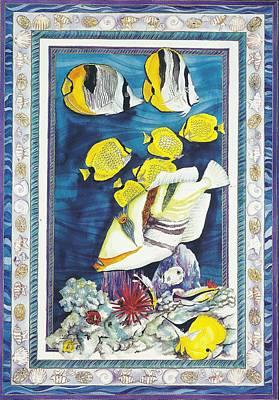 Triggerfish Painting - Reef Triggerfish by Cynthia Conklin