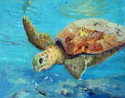 Painting - Reef Turtle by Marie Green