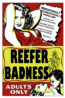 Digital Art - Reefer Badness by John Haldane