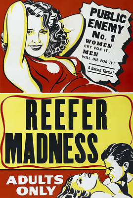 Crazed Photograph - Reefer Madness Movie Lobby Ad  1936 by Daniel Hagerman