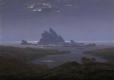 Germany Painting - Reefs By The Seashore by Caspar David Friedrich