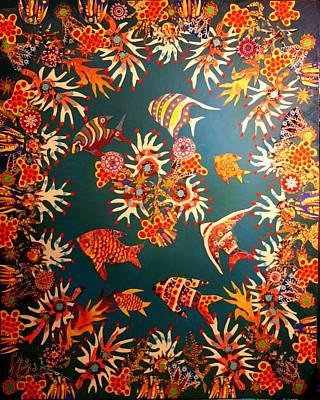 Mixed Media - Reefscape by Bob Craig