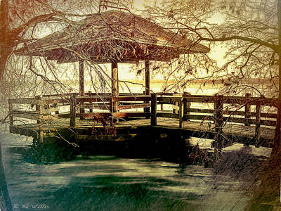 Digital Art - Reelfoot Lake Pavilion by Bonnie Willis