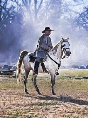 Painting - Reenactment General by Joe Sparks