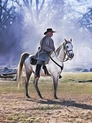 Painting - Reenactment General by Joe Sparks