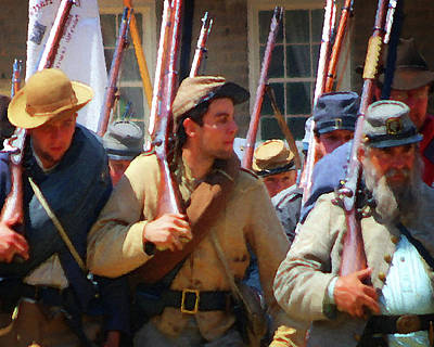 Photograph - Reenactors 3 by Timothy Bulone