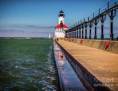 Photograph - Refection At  Michigan City Light by Nick Zelinsky