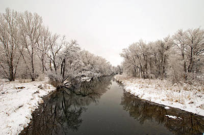 Photograph - Refections On The Poudre River by James Steele