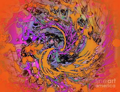 Digital Art - Refined Chaos by Expressionistart studio Priscilla Batzell