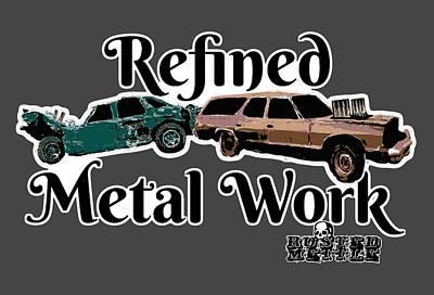 Refined Metal Work Art Print by George Randolph Miller
