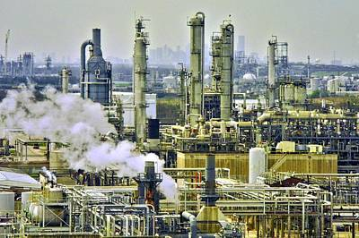 Refineries In Houston Texas Art Print