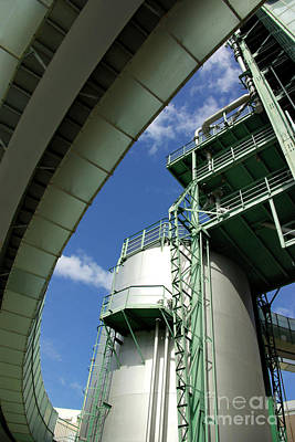 Factory Photograph - Refinery Detail by Carlos Caetano