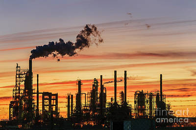 Photograph - Refinery Sunset by Paul Conrad