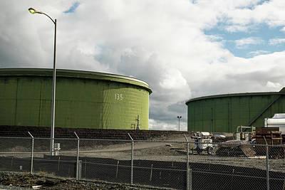 Photograph - Refinery Tanks by Tom Cochran