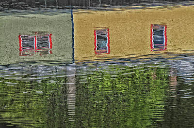 Photograph - Reflected Abstract by Mike Martin