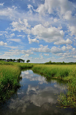 Photograph - Reflected Clouds In Glacial Park Wetlands by Ray Mathis