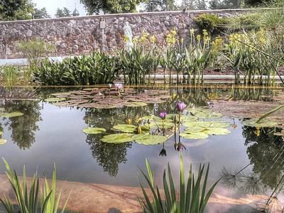 Reflected Lilies Print by David Bearden