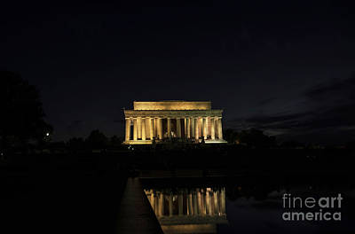 Photograph - Reflected Lincoln by David Bearden