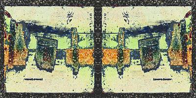 Mixed Media - Reflected Maze by Lenore Senior