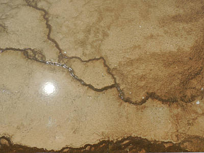 Photograph - Reflected Sun In Hot Spring by Jayne Wilson