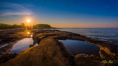 Photograph - Reflected Sun by Rikk Flohr