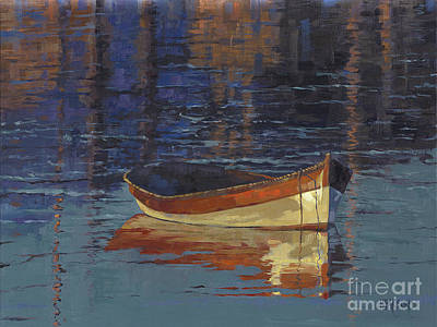 Painting - Sold Reflecting At Day's End by Nancy  Parsons