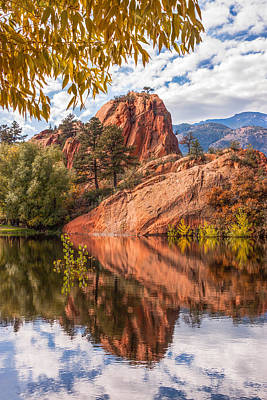 Photograph - Reflecting At Red Rocks Open Space by Christina Lihani