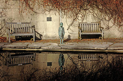 Photograph - Reflecting Child by Debbie Oppermann