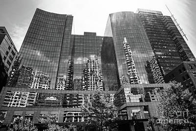Photograph - Reflecting Cityscape   Bw by Judy Wolinsky
