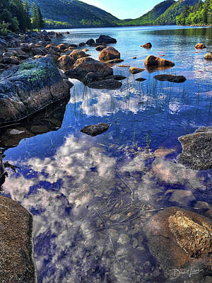Photograph - Reflecting Clouds In Maine by David A Lane