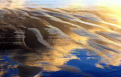 Outgoing Tide Photograph - Reflecting Clouds by Mina Thompson