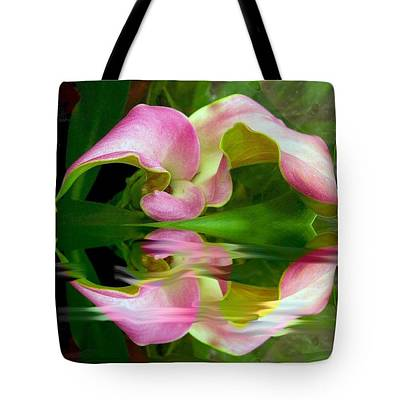 Photograph - Reflecting Lily Tote Bag by Michele Avanti