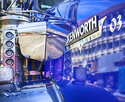 Photograph - Reflecting On A Kenworth by Theresa Tahara