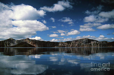 Photograph - Reflecting On Crater Lake by Rick Bures