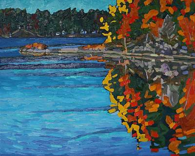Morn Painting - Reflecting On Fall by Phil Chadwick