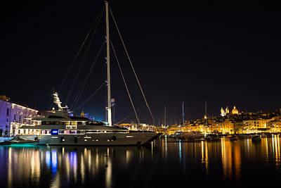 Maltese Photograph - Reflecting On Malta - Grand Harbour Marina Vittoriosa by Georgia Mizuleva