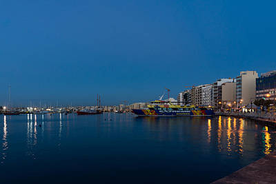 Photograph - Reflecting On Malta - Sliema Blue Morning by Georgia Mizuleva