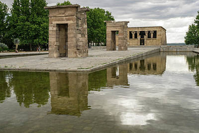 Photograph - Reflecting On Millennia - Egyptian Temple Of Debod In Madrid Spain  by Georgia Mizuleva