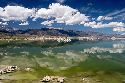 Photograph - Reflecting On Mono Lake by Phil Stone