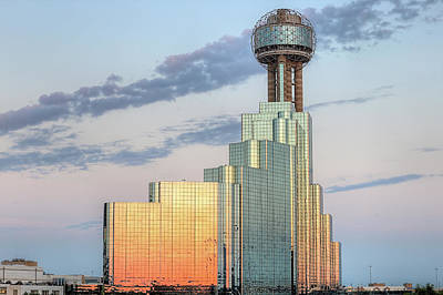 Photograph - Reflecting On Reunion Tower by JC Findley
