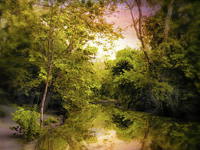 Greenery Digital Art - Reflecting On Spring by Jessica Jenney