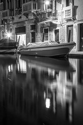 Photograph - Reflecting On The Canal In Venice  by John McGraw