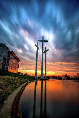 Photograph - Reflecting On The Cross by Gregory Ballos