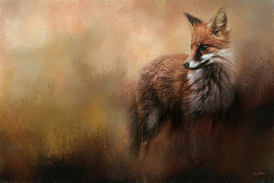Red Fox Painting - Reflecting On The Past by Jai Johnson