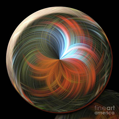Photograph - Reflecting Orb by Judy Wolinsky