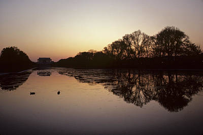 Reflecting Pool And Lincoln Memorial Print by Kenneth Garrett