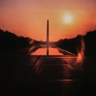 Photograph - Reflecting Pool Circa 1970 by JAMART Photography