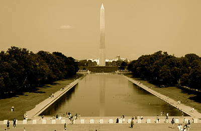 Reflecting Pool Of The Washington Monument Art Print by Aimee Galicia Torres