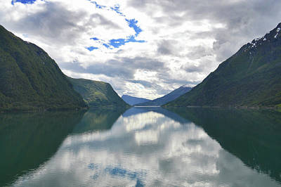 Photograph - Reflecting Skjolden. by Terence Davis